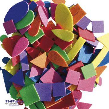 Moosgummi, Formen Quadrate, Dreiecke, Ovale, Tropfen - Kisus - Kinder, Spiel und Spaß - Bastelbedarf, basteln