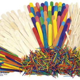 Holzstäbchen Set 1200 Teile Jede Menge Holz! - Kisus - Kinder, Spiel und Spaß - Bastelbedarf