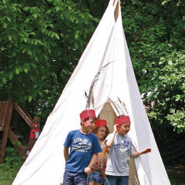 Tipi groß Wie im wilden Westen - Kisus e.K. - Kinder, Spiel und Spaß - Kindergarten, Rollenspiel, Indianer