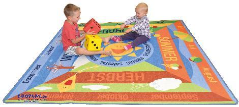 Teppich Jahreszeiten Ein ganzes Jahr - Kisus e.K. - Kinder, Spiel und Spaß - kita großhandel