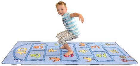 Teppich Hüpfespiel Hüpfspaß für Miese-Wetter-Tage - Kisus e.K. - Kinder, Spiel und Spaß - Kindergartenausstattung