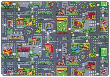 Verkehrsteppich 140 x 200 cm Für kleine und für große Spielzeugautos ... haben wir jetzt zwei Spielteppiche mit Straßenmotiven - Kisus e.K. - Kinder, Spiel und Spaß - großhandel kindergärten