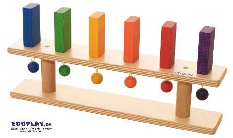 Standdomino 6 Steine Mechanische Zusammenhänge erkennen und Feinmotorik schulen - Kisus e.K. - Kinder, Spiel und Spaß - Krippenbedarf
