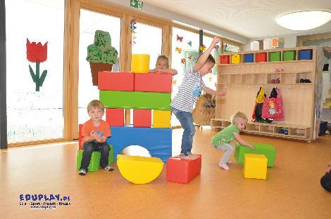 Soft Bausteine Bauen, spielen und Geschicklichkeit fördern - Kisus e.K. - Kinder, Spiel und Spaß - krippe, kita, kindergarten, kindergartenversand, krippenausstattung, behinderteneinrichtung, therapie, kinderturnen, sportunterricht