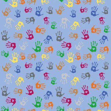Teppich Hände Rechteck 300 x 200 cm Rote, grüne, gelbe Hände - Kisus e.K. - Kinder, SPiel und Spaß - Kindergarten einrichtung