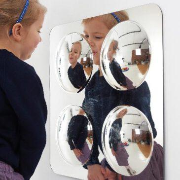 Spiegel Convex 4 klein - Kisus e.K. - Kinder, Spiel und Spaß - schule, kita, krippe, kindergarten, kindergartenversand, krippenausstattung, außenspiele, outdoor, kindergartenbedarf, schulbedarf