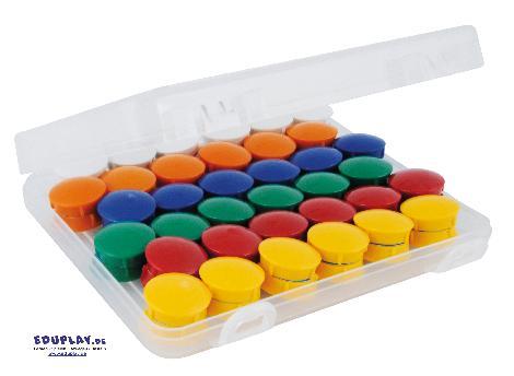 Haft-Magnete 21 mm in Box, 72-tlg. Kraftmagnete - Kisus e.K. - Kinder, Spiel und Spaß - Kindergartenausstattung, Bürobedarf