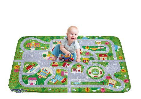 Strassenteppich Krippe 150 x 100 cm Krabbeln und spielen - kisus e.K. - Kinder, Spiel und Spaß - krippenbedarf, krippenausstattung, teppich