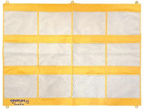 Wandorganizer 12 Taschen gelb groß Übersichtlich und griffbereit aufbewahren - Kisus e.K. - Kinder, Spiel und Spaß