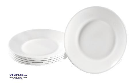 Teller Hartglas groß 6 Stück Robustes Geschirr für den Kiga-Alltag - Kisus e.K. - Kinder, Spiel und Spaß