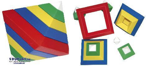 Triangle Puzzle 15-tlg. Unglaublich - Kisus e.K. - Kinder, Spiel und Spaß - räumliches Vorstellungsvermögen, Phantasie, Logik, Konstruktion, edukatives spielzeug, experimente für kinder