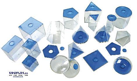 Geometrische Körper, transparent (blau) klein Gleiche Körper - Kisus e.K. - Kinder, Spiel und Spaß