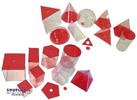 Geometrische Körper, transparent (rot) groß Gleiche Körper - kisus e.K. - Kinder, Spiel und Spaß