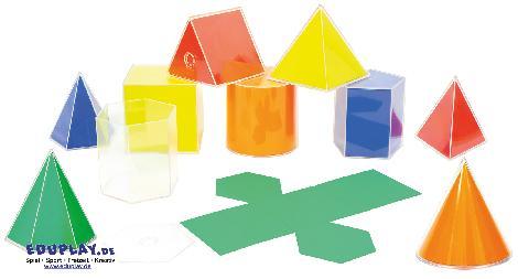Geo Formen mit Abwicklung Was ist ein Tetraeder? ... und welches Volumen hat ein Würfel? - Kisus e.Ke - Kinder, Spiel und Spaß - edukative spielwaren