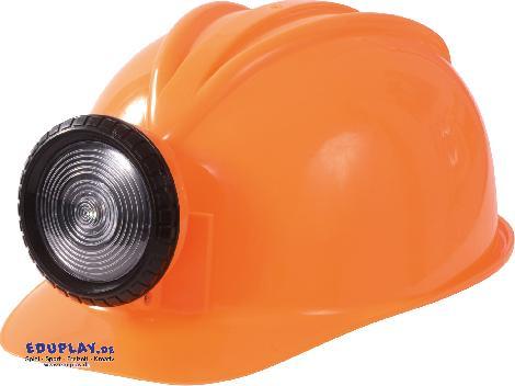 Bauhelm mit Lampe orange Ein Must-Have für jeden Bauarbeiter - Kisus e.K. - Kinder, Spiel und Spaß - Kindergartenbedarf