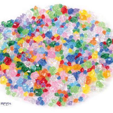 Acryl-Steine-Mix 500 g Funkeln wie Diamanten - Kisus e.K. - Kinder, Spiel und Spaß