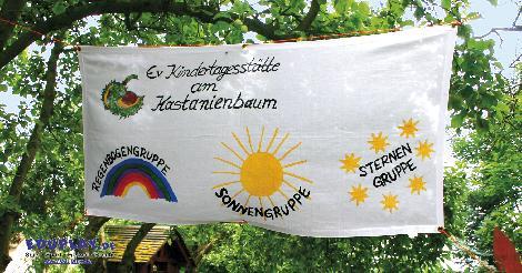 Banner Baumwolle Fürs Sommerfest, den Advents-Basar - Kisus e.K. - Kinder, Spiel und Spaß - großhandel für kindergarten einrichtungen
