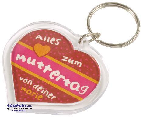 Schlüsselanhänger Acrylherz
