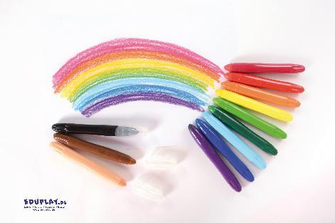 Pastellstifte 12er Set Supersofte Mienen, hoher Farbauftrag und tolle Leuchtkraft - Kisus e.K. - Kinder, Spiel und Spaß - kindergarten bastelbedarf