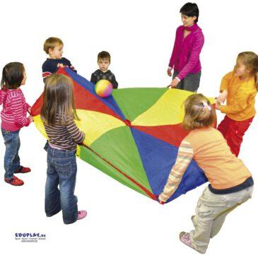Schwungtuch Mit vereinten Kräften ... wenn alle Kinder gleichzeitig schwingen, fliegen die Bälle oder Luftballons in die Höhe. Spielspaß für drinnen und draußen. Fördert die Auge-Hand-Koordination und das Gefühl für Rhythmus - Kisus e.K. - Kinder, spiel und spaß - Kindergartenbedarf