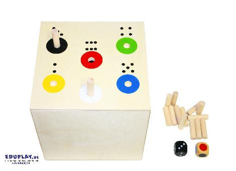 AB in die BOX - BIG Nur bei der 6 oder bei rot fällt das Stäbchen - Kisus e.K. - Kinder, Spiel und Spaß