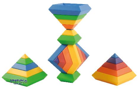 Pyramidenbausatz Skurriles Puzzle