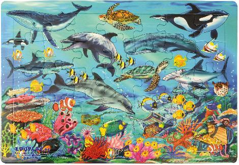 Puzzle Meer Die Unterwasserwelt kennen lernen
