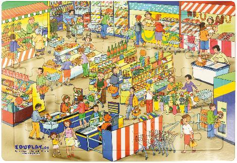 Puzzle Markt Welch ein Einkaufsparadies ist dieser Markt!
