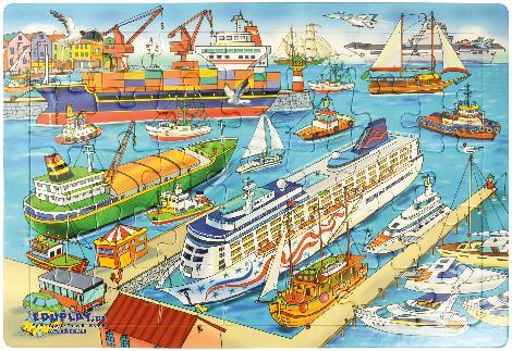 Puzzle Hafen Schiff ahoi! - Kisus e.K. - Kinder, Spiel und Spaß