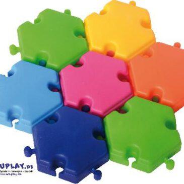 Hexagon Bausteine 96-tlg. Sechseckige Bausteine mit Verbinder - Kisus e.K. - Kinder, Spiel und Spaß