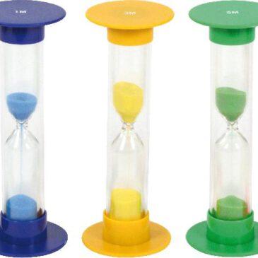Sanduhrenset groß, 5-tlg. Zeit visualisieren - kisus e.K.- Kinder, Spiel und Spaß - Kindergartenausstattung