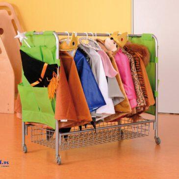 Garderobe fahrbar Übersichtlich aufgeräumt und mobil