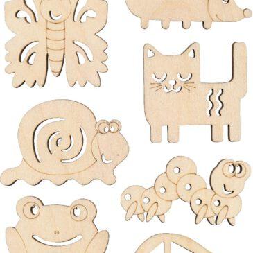 Sandkämme/Sandformen 12-tlg. Tolle Strukturen und Muster ... malen Kinder mit den Sandkämmen in Tier- und Fahrzeugformen in den Sand.
