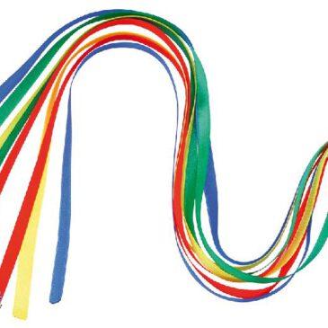 Kometenball Werfen, Fangen, Jonglieren, Herumwirbeln ... mit diesem Ball ist alles möglich. Der Flummi hateinen farbenfrohen Regenbogenschweif aus Chiffonbändern. Auch geeignet für reaktionsschwache Kinder. Fördert Reaktion und Auge-Hand-Koordination. - Kisus e.K. - Kinder, Spiel und Spaß