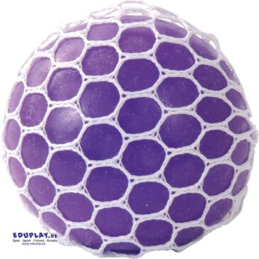 Netzball farbig sortiert Ball mit Blaseneffekt ... Wie bei einem Frosch, der die Backen aufbläst, bilden sich beim Drücken auf den Netzball blasenförmige Ausbuchtungen in anderer Farbe. Das ist nicht nur faszinierend - es trainiert zugleich die Handmuskulatur. - Kisus e.K. - Kinderr, Spiel und spaß