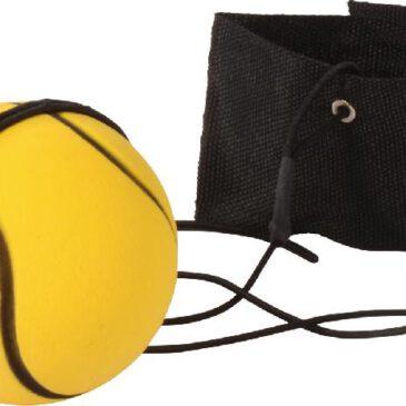 Komm-zurück-Ball 4er Set Der Ball bleibt immer beim Spieler ... Die Manschette mit Klettverschluss passt am Hand- und Fußgelenk. So kann der Ball an der Gummischnur beim Tatzen, Hochwerfen und Auffangen leicht wieder zurück geholt werden. Kisus e.K. - Kinder, Spiel und spaß