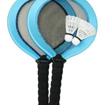 Badminton Set Treffsicher mit kurzem Stiel ... Die Rackets sind aus Kunststoff mit Neopren und Netz bespannt - Kisus e.K. - Kinder, Spiel und spaß - Federball