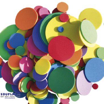 Moosgummi, Kreise Große und kleine Kreise ... für Blumen, Raupen und Muster. - Kisus e.K. - Kinder, Spiel und spaß - bastelbedarf, kindergarten