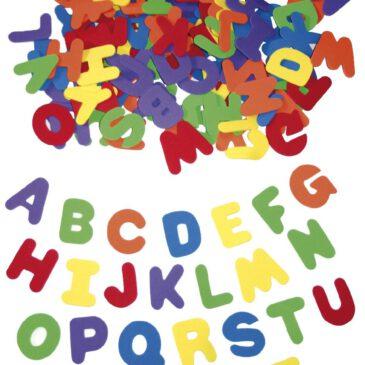 Moosgummi Buchstaben groß