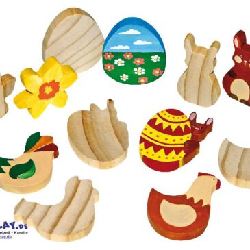 Holzfiguren Ostern Bereit zum Anmalen ... für Kiga-Gruppen. Holzfiguren zum Spielen, Verzieren und Verschenken. - Kisus e.K. - Kinder, Spiel und Spaß - bastelbedarf, osterhase, osterei