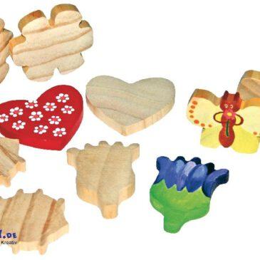 Holzfiguren Muttertag Bereit zum Anmalen ... für Kiga-Gruppen. Holzfiguren zum Spielen, Verzieren und Verschenken.