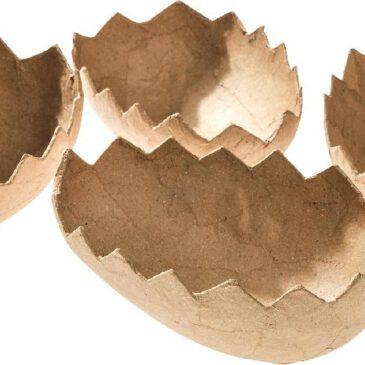 Karton-Eierhälfte 4 Stück Hübsche Osternester