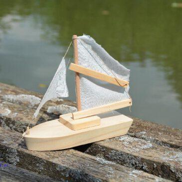 Bausatz Segelschiff Ahoi! ... Ein toller Bausatz für kleine Seemänner zum individuell gestalten