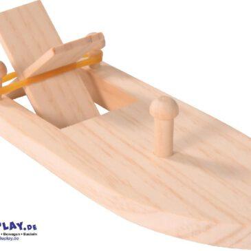 Boot mit Gummiantrieb