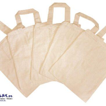Baumwolltasche klein 5er Satz Eine nützliche Geschenkidee ... ist die individuell gestaltete Baumwolltasche - oder auch eine farbenfrohe Geschenk-Verpackung mit Mehrwert.