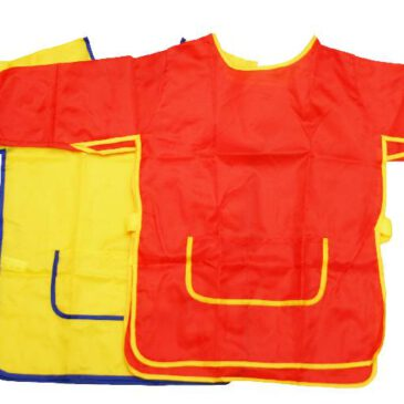 Malkittel rot gelb blau Eine Sekunde nicht aufgepasst ... und schon ist der Pullover vollgekleckst. Dieser wasserabweisende Malkittel schützt Ärmel und Oberbekleidung vor Farbe, Kleber...
