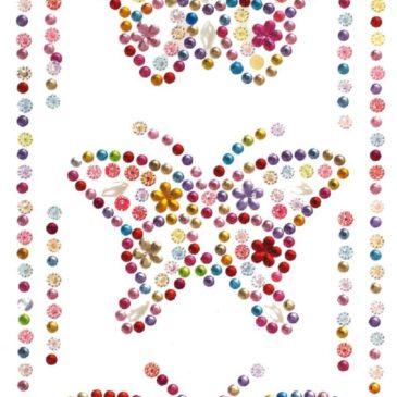 Glitzersticker Bunte Schmetterlinge Ein Paradies für Sticker-Liebhaber ... Einladungen und Karten verschönern oder die Stoffschuhe pimpen - mit diesen tollen Stickern stehen Kindern alle Möglichkeiten offen