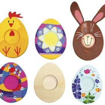 Teelichthalter Ei 3er Set Die rohen Eier ... warten schon darauf, kunterbunt angemalt zu werden. Ein tolles, selbst gebasteltes Geschenk und der Hingucker auf jedem Ostertisch.