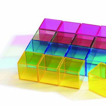 Rainbow Block 16-tlg. Farbig und doch Durchscheinend