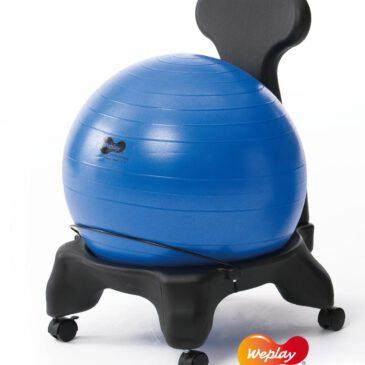 Großer Ballstuhl schwarz Bewegtes sitzen